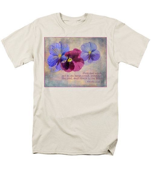 Pleasant Words Men's T-Shirt  (Regular Fit) by Larry Bishop
