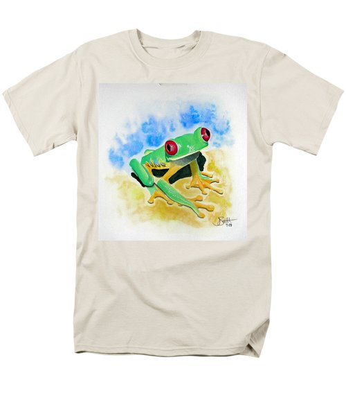 Red Eyed Tree Frog Men's T-Shirt  (Regular Fit) by Jimmy Smith