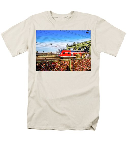 Red Train Men's T-Shirt  (Regular Fit) by Cesar Vieira