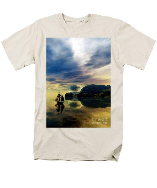 Reflection Bay Men's T-Shirt  (Regular Fit) by Sandra Bauser Digital Art