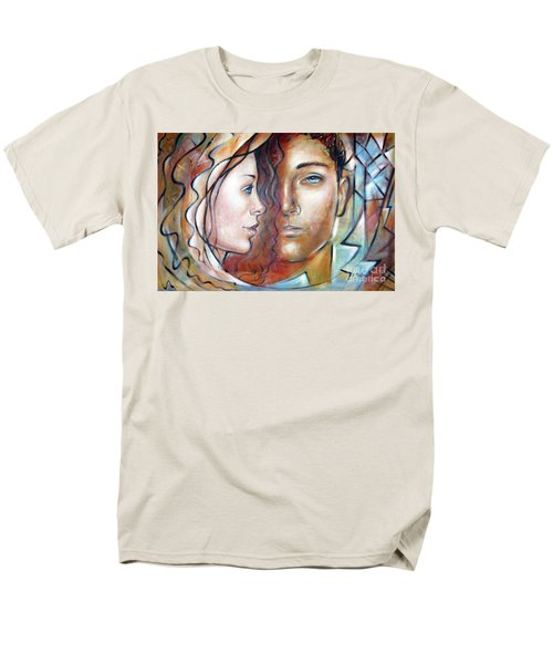 Men's T-Shirt  (Regular Fit) featuring the painting She Loves Me 140709 by Selena Boron