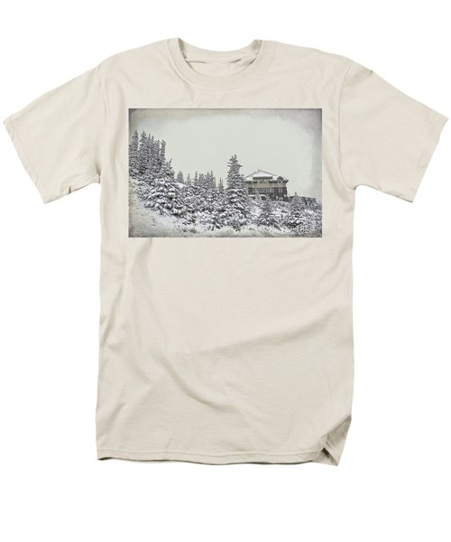 Snow In July Men's T-Shirt  (Regular Fit) by Teresa Zieba