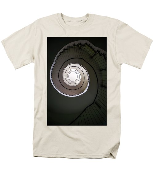 Men's T-Shirt  (Regular Fit) featuring the photograph Spiral Staircase In Brown Tones by Jaroslaw Blaminsky