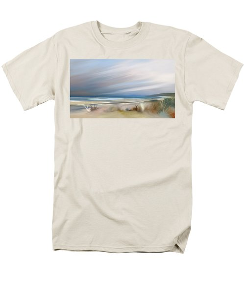 Storm Over Beach Men's T-Shirt  (Regular Fit) by Anthony Fishburne