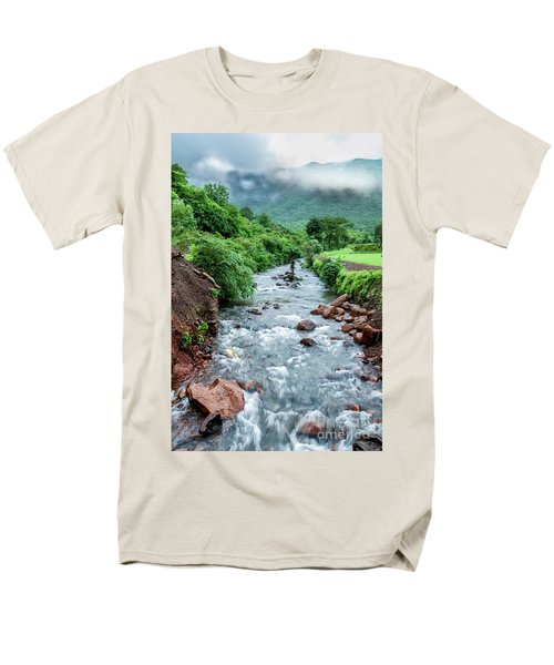 Men's T-Shirt  (Regular Fit) featuring the photograph Stream by Charuhas Images
