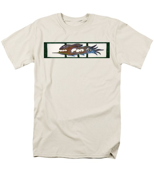 Men's T-Shirt  (Regular Fit) featuring the mixed media The Prozak Fish by Robert Margetts