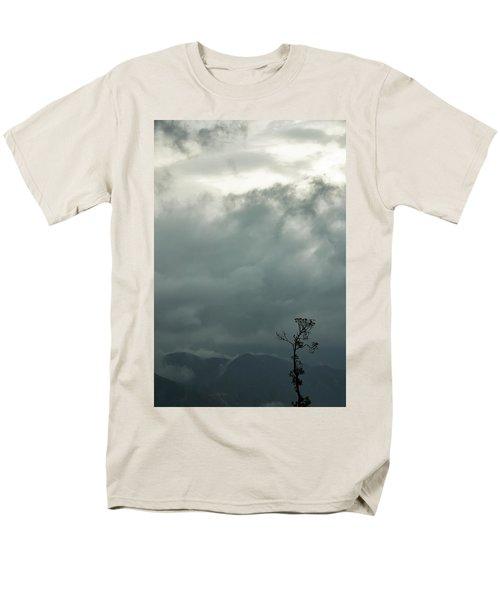 Tree And Mountain  Men's T-Shirt  (Regular Fit) by Rajiv Chopra