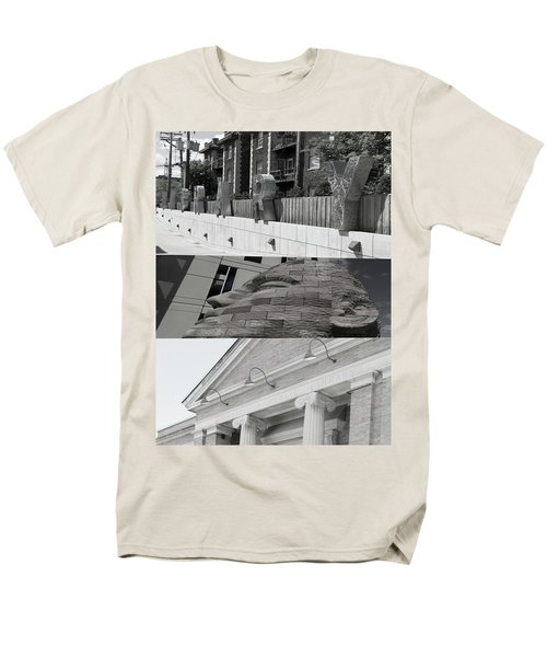 Men's T-Shirt  (Regular Fit) featuring the photograph Uptown Library by Susan Stone