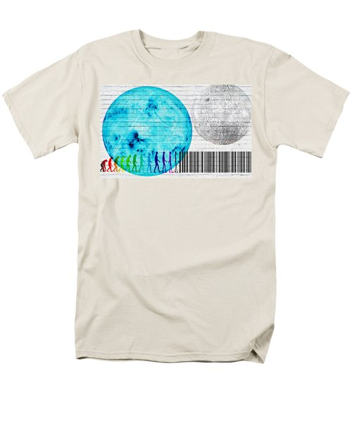 Urban Graffiti - Binary Evolution Men's T-Shirt  (Regular Fit) by Serge Averbukh