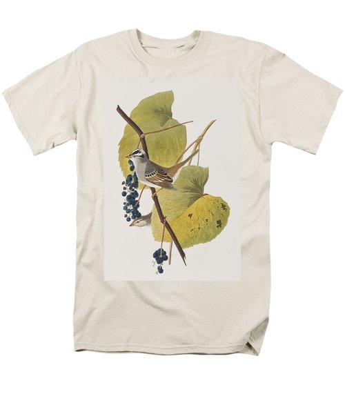White-crowned Sparrow Men's T-Shirt  (Regular Fit) by John James Audubon