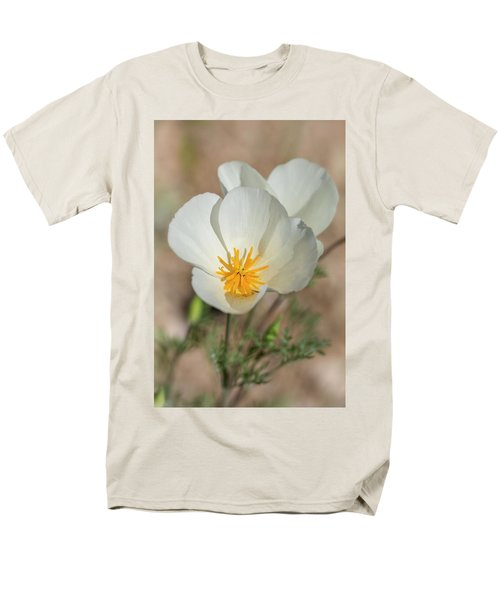 Men's T-Shirt  (Regular Fit) featuring the photograph White Poppies  by Saija Lehtonen