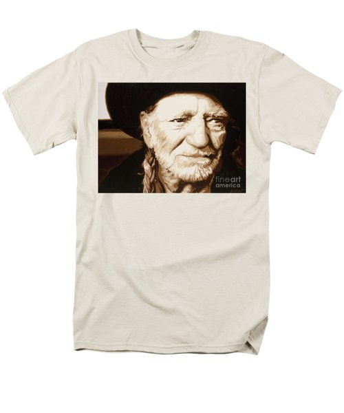 Willie Nelson Men's T-Shirt  (Regular Fit) by Ashley Price