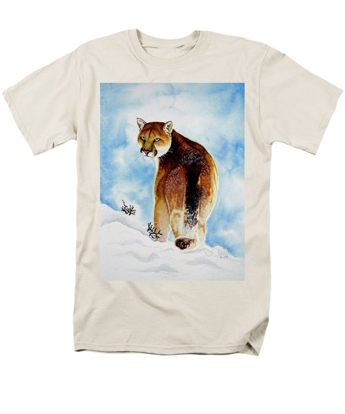 Winter Cougar Men's T-Shirt  (Regular Fit) by Jimmy Smith
