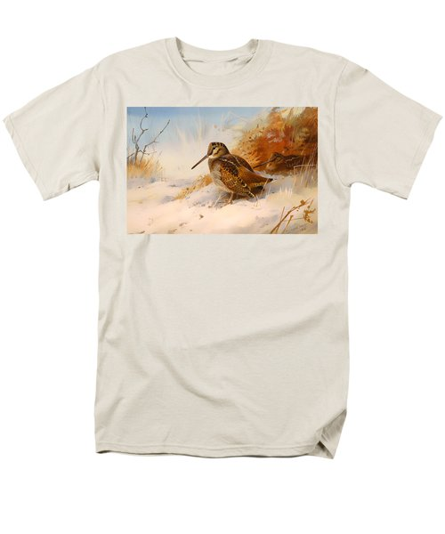 Winter Woodcock Men's T-Shirt  (Regular Fit) by Mountain Dreams