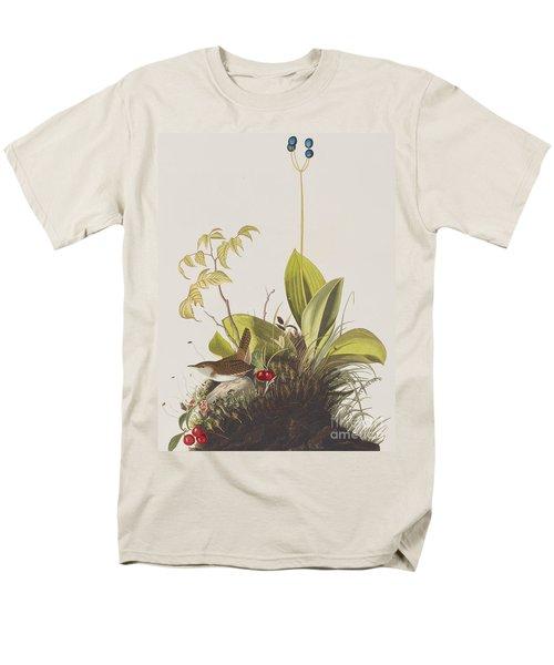 Wood Wren Men's T-Shirt  (Regular Fit) by John James Audubon