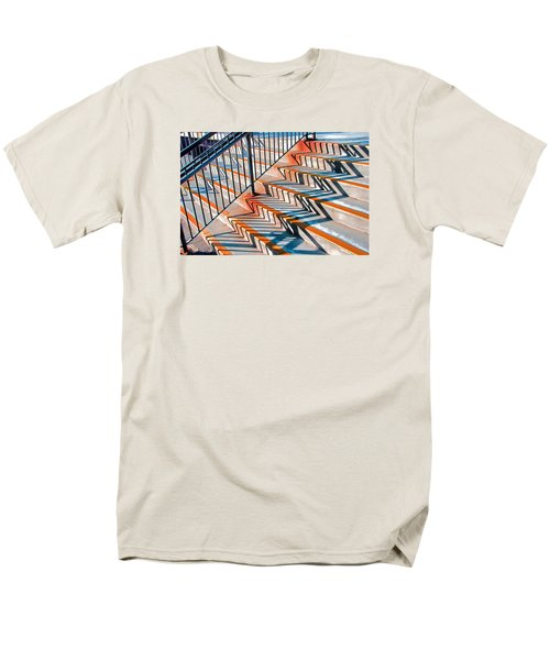 Zig Zag Shadows On Train Station Steps Men's T-Shirt  (Regular Fit)