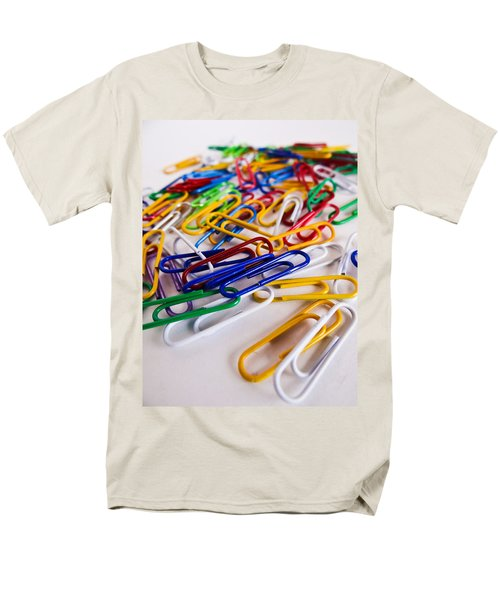 100 Paperclips Men's T-Shirt  (Regular Fit) by Julia Wilcox