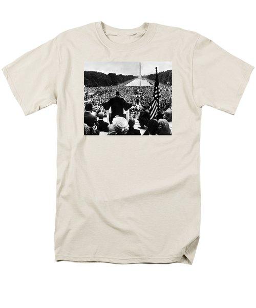 Martin Luther King Jr Men's T-Shirt  (Regular Fit) by American School