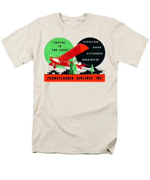 1930 Penn Airlines Poster Men's T-Shirt  (Regular Fit) by Historic Image