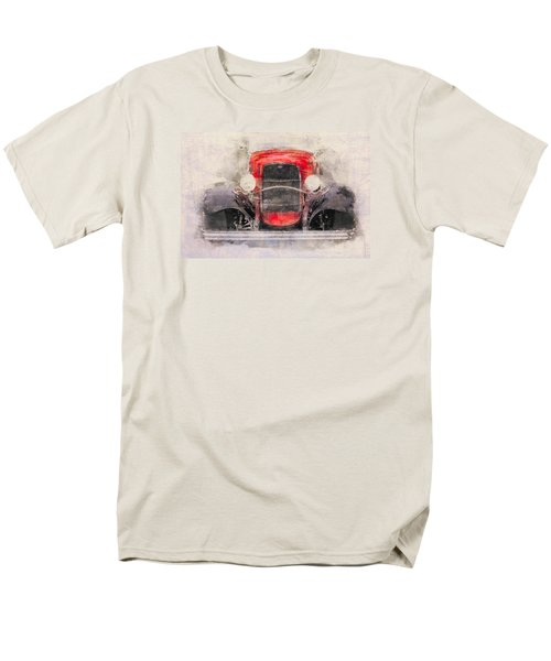 1932 Ford Roadster Red And Black Men's T-Shirt  (Regular Fit)