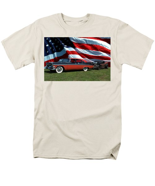 1958 Dodge Coronet And 1935 International Dragster Men's T-Shirt  (Regular Fit) by Tim McCullough