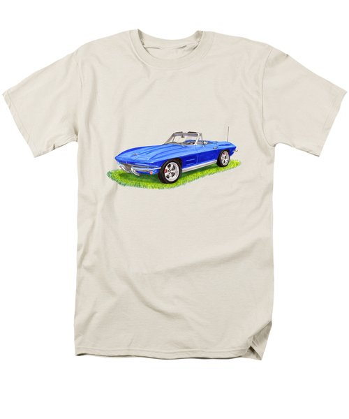 Men's T-Shirt  (Regular Fit) featuring the painting 1964 Corvette Stingray by Jack Pumphrey