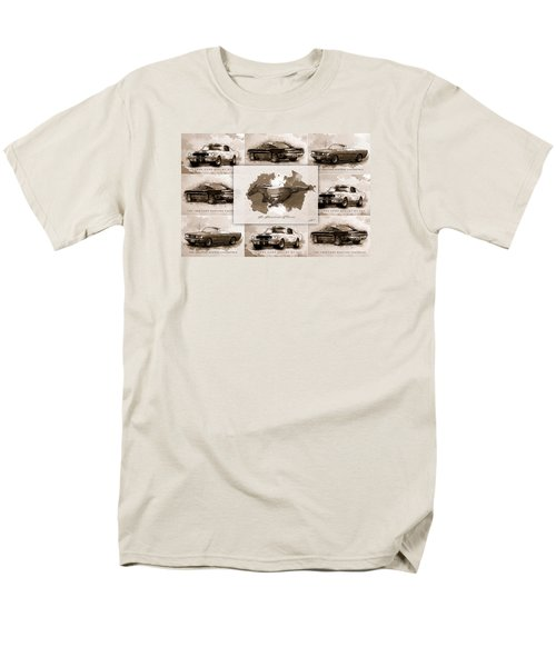 1965 Ford Mustang Collage I Men's T-Shirt  (Regular Fit) by Gary Bodnar