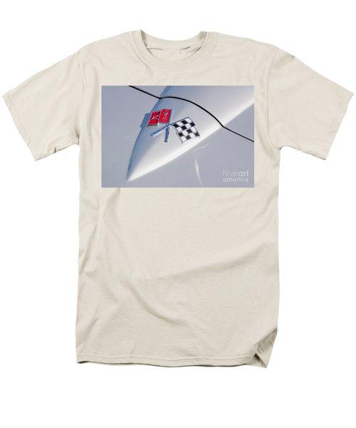 Men's T-Shirt  (Regular Fit) featuring the photograph 1966 Corvette Hood Ornament  by Aloha Art