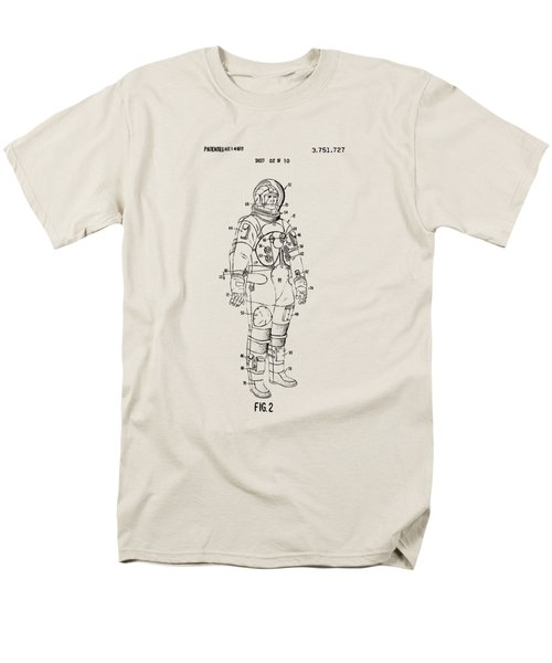 1973 Astronaut Space Suit Patent Artwork - Vintage Men's T-Shirt  (Regular Fit) by Nikki Marie Smith