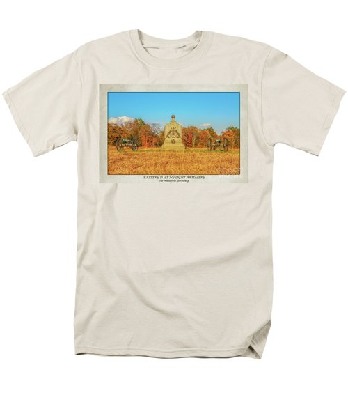 1st New York Battery D Gettysburg Poster Men's T-Shirt  (Regular Fit) by Randy Steele