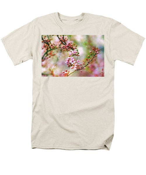 Men's T-Shirt  (Regular Fit) featuring the photograph Cherry Blossoms In Spring by Peggy Collins
