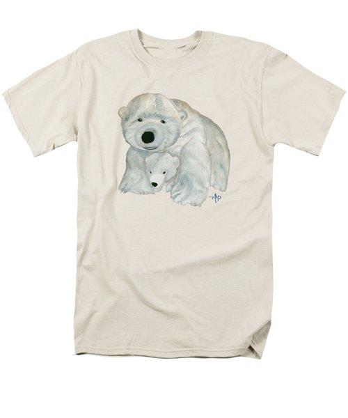 Cuddly Polar Bear Men's T-Shirt  (Regular Fit) by Angeles M Pomata
