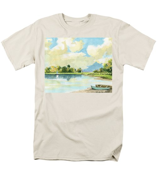 Fishing Lake Men's T-Shirt  (Regular Fit) by Alban Dizdari