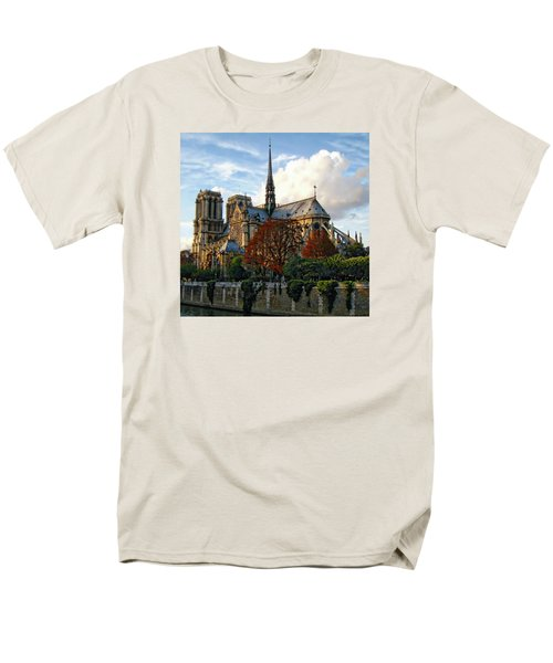 Notre Dame Cathedral Men's T-Shirt  (Regular Fit) by Anthony Dezenzio