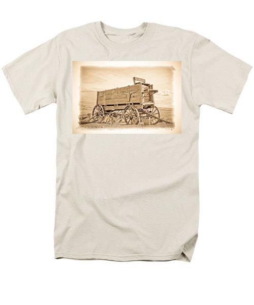 Old West Wagon  Men's T-Shirt  (Regular Fit) by Steve McKinzie