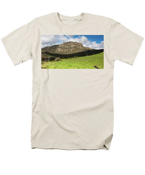 Men's T-Shirt  (Regular Fit) featuring the photograph The Three Finger Mountain by Bruno Spagnolo