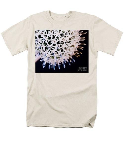 White Alium Onion Flower Men's T-Shirt  (Regular Fit) by Colin Rayner