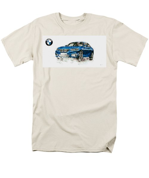 2014 B M W 2 Series Coupe With 3d Badge Men's T-Shirt  (Regular Fit) by Serge Averbukh