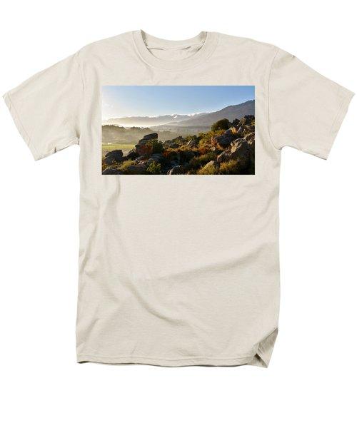 morning fog over Ceres Men's T-Shirt  (Regular Fit) by Werner Lehmann