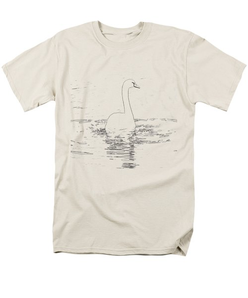 White Swan Swimming  Men's T-Shirt  (Regular Fit) by Humorous Quotes
