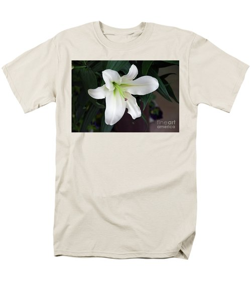 White Lily Men's T-Shirt  (Regular Fit) by Elvira Ladocki