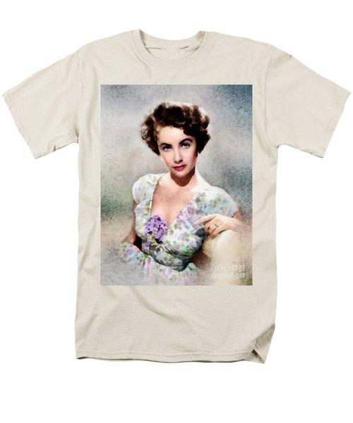 Elizabeth Taylor, Vintage Hollywood Legend Men's T-Shirt  (Regular Fit) by John Springfield