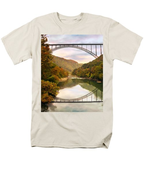 New River Gorge Bridge Men's T-Shirt  (Regular Fit) by Mary Almond