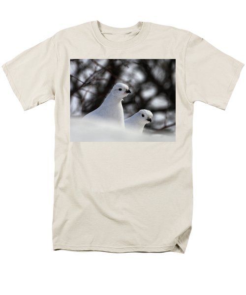 Willow Ptarmigan Men's T-Shirt  (Regular Fit) by Doug Lloyd