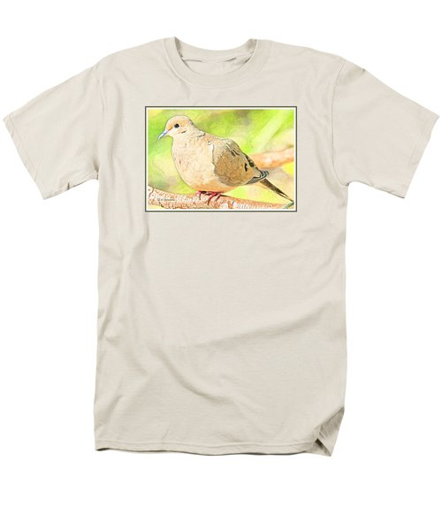 Men's T-Shirt  (Regular Fit) featuring the digital art Mourning Dove Animal Portrait by A Gurmankin