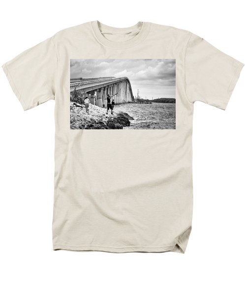 7 Mile Bridge B_w Men's T-Shirt  (Regular Fit) by John McArthur
