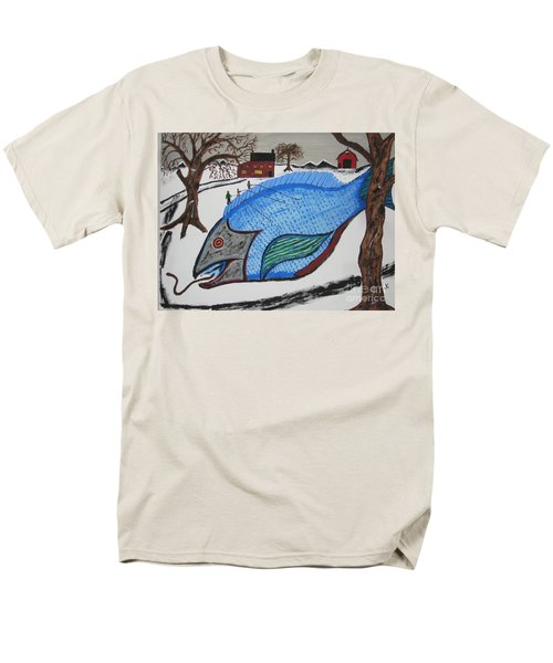 Men's T-Shirt  (Regular Fit) featuring the painting A Big Fish Tale by Jeffrey Koss