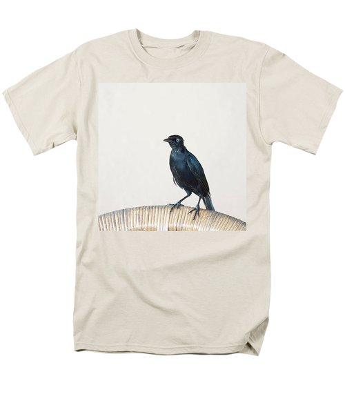A Carib Grackle (quiscalus Lugubris) On Men's T-Shirt  (Regular Fit) by John Edwards