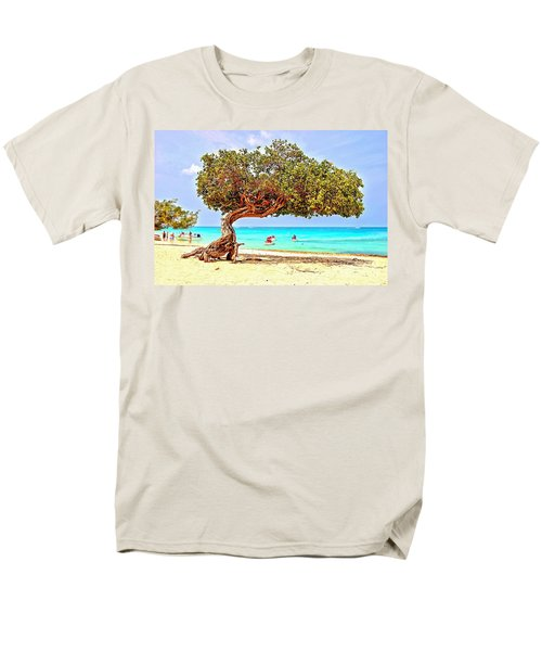 Men's T-Shirt  (Regular Fit) featuring the photograph A Day At Eagle Beach by DJ Florek