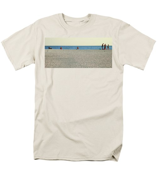Men's T-Shirt  (Regular Fit) featuring the photograph A Fine Day At The Beach by Ginny Schmidt